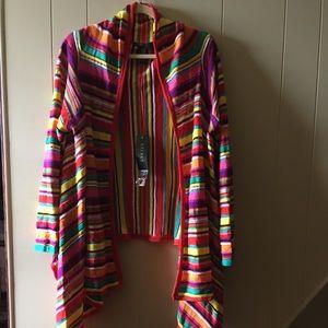 Ralph Lauren NWT cardigan multicolor striped